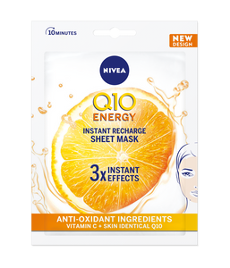 The sheet mask is infused with Q10 and Vitamin C to recharge tired and dull skin, reduce fine lines and nourish the skin. It only takes 10 minutes!