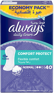 Always Daily Panty Liners Comfort Protect Normal 40 pcs