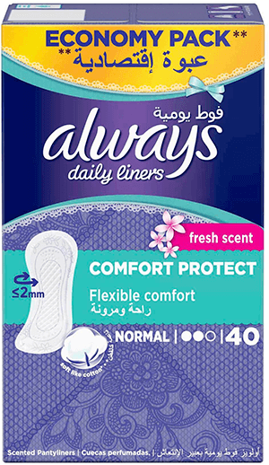 Always Daily Liners Comfort Protect Normal Fresh Scent 40 pcs