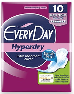 Everyday Hyperdry Maxi Night Ultra Plus 10 pcs