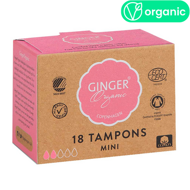 Ginger Organic Mini Tampons 18 pcs