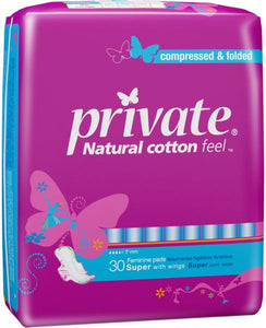 Private Pads Super with wings 30 pcs