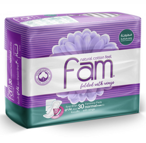 Fam Normal Pads With Wings 30 pcs