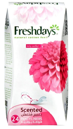 Freshdays Natural Cotton Feel Normal Scented Pack of 24