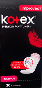 Kotex Everyday Panty Liners Normal Unscented 30 Liners