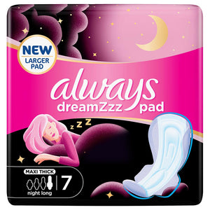 Always Dreamzz Pad Maxi Thick Night Long Pads w/ Wings 7pcs