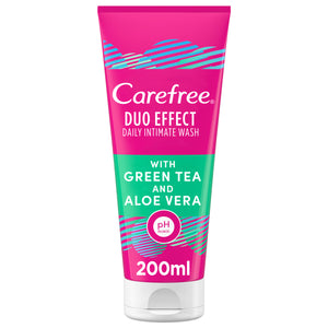 Carefree Daily  Wash Duo Effect with Green Tea and Aloe Vera 200 ml