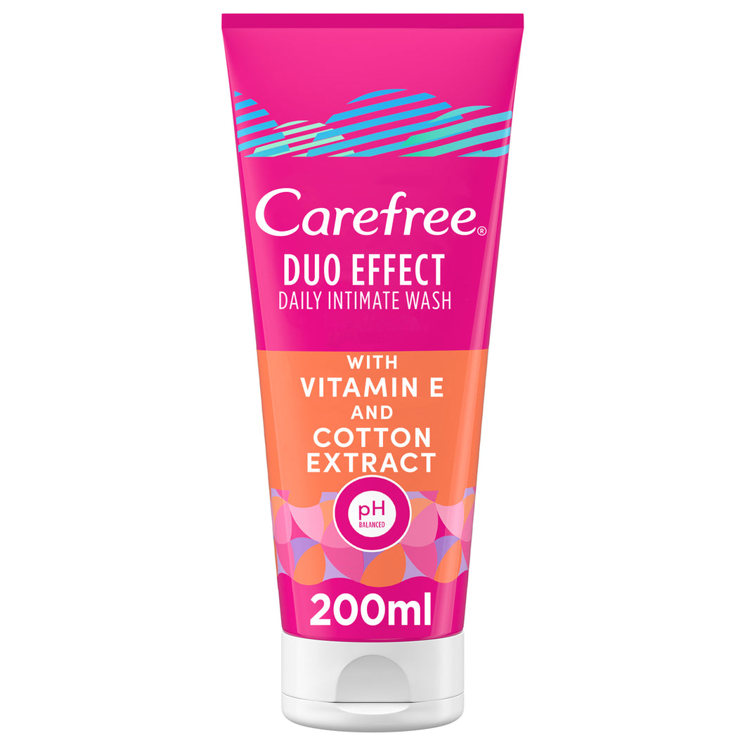 Carefree Daily  Wash Duo Effect with Vitamin E and cotton extract 200 ml