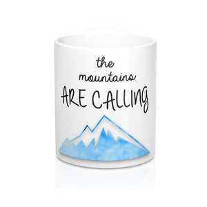 "FOX HIKE™ - ""MOUNTAINS ARE CALLING"" MUG - Fox Hike Hiking Gear Outdoor Trekking Survival"