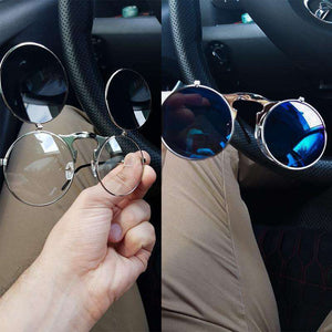 """Turn Off"" - Steampunk Sunglasses - Fox Hike Hiking Gear Outdoor Trekking Survival"