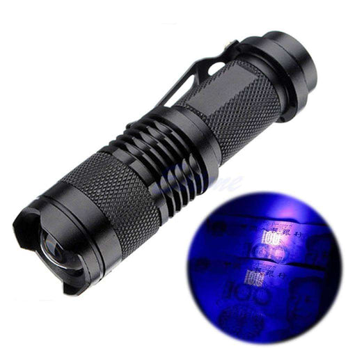 Zoomable LED UV Flashlight - Fox Hike Hiking Gear Outdoor Trekking Survival