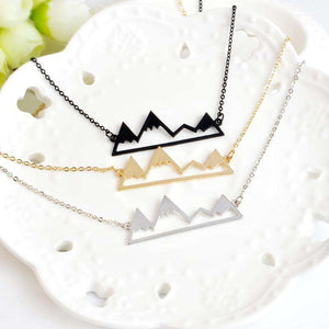 Minimalist Unique Mountain Necklace - Fox Hike Hiking Gear Outdoor Trekking Survival