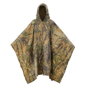 Camo Waterproof Poncho - Fox Hike Hiking Gear Outdoor Trekking Survival