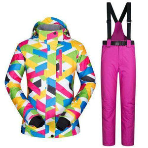Women Ski Jacket And Pants Set - Fox Hike Hiking Gear Outdoor Trekking Survival