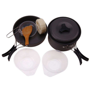 Aluminium Alloy Hiking Cookware Set - Fox Hike Hiking Gear Outdoor Trekking Survival