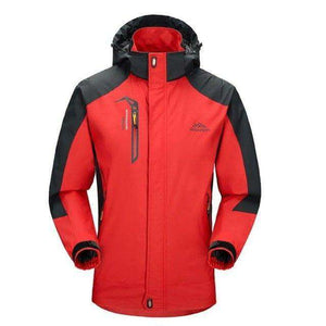 Men Windproof Softshell Jacket - Fox Hike Hiking Gear Outdoor Trekking Survival