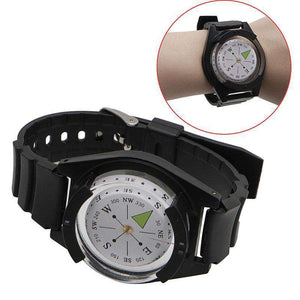 Tactical Wrist Compass Special For Military Outdoor Survival Watch Black Band - Fox Hike Hiking Gear Outdoor Trekking Survival
