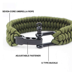 Stylish EDC Paracord Bracelet - Fox Hike Hiking Gear Outdoor Trekking Survival