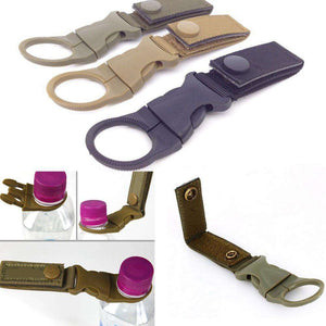 Water Bottle Carabiner Webbing Strap - Fox Hike Hiking Gear Outdoor Trekking Survival