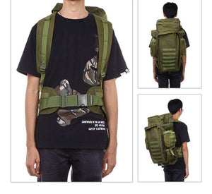 60L Tactical Molle Backpack - Fox Hike Hiking Gear Outdoor Trekking Survival