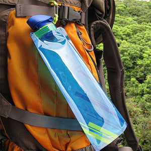 700mL Portable Folding Water Bottle - Fox Hike Hiking Gear Outdoor Trekking Survival