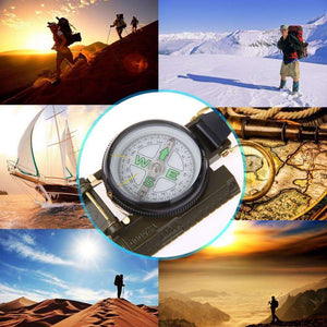 Portable Folding Compass - Fox Hike Hiking Gear Outdoor Trekking Survival