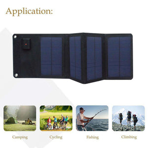 5.5V 7W foldable Solar Panel - Fox Hike Hiking Gear Outdoor Trekking Survival