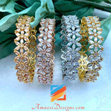 Beautiful American Diamond (AD) Kadas - Various Colours