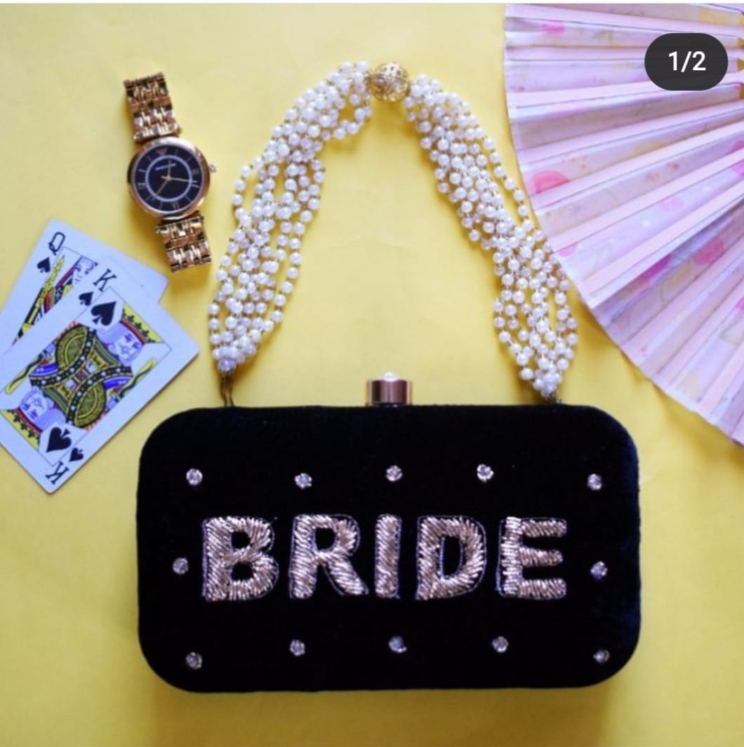 Bride Black Clutch