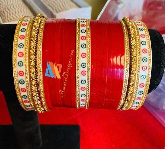 Bridal Chooda with Traditional Bangles