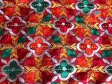 Phulkari Chinon Red Bridal Dupatta