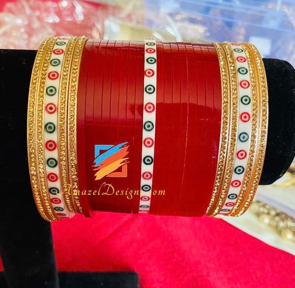 Choora Bindi and Golden Bangles