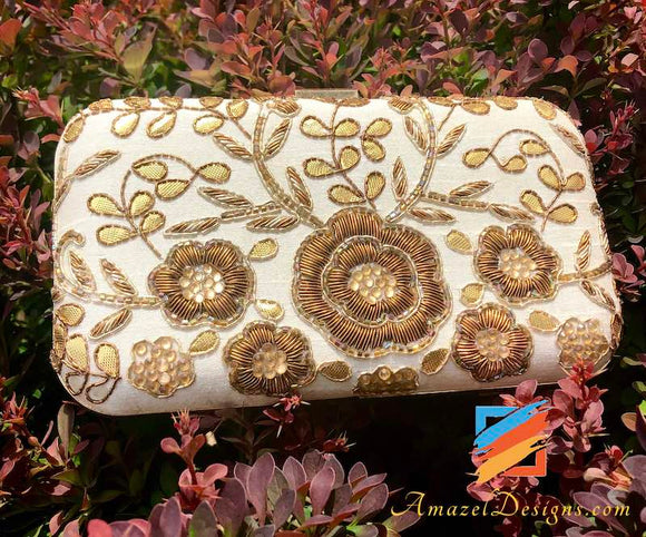 Clutch with Copper and Golden Work