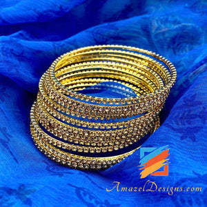 Copper Stone Bangles Set