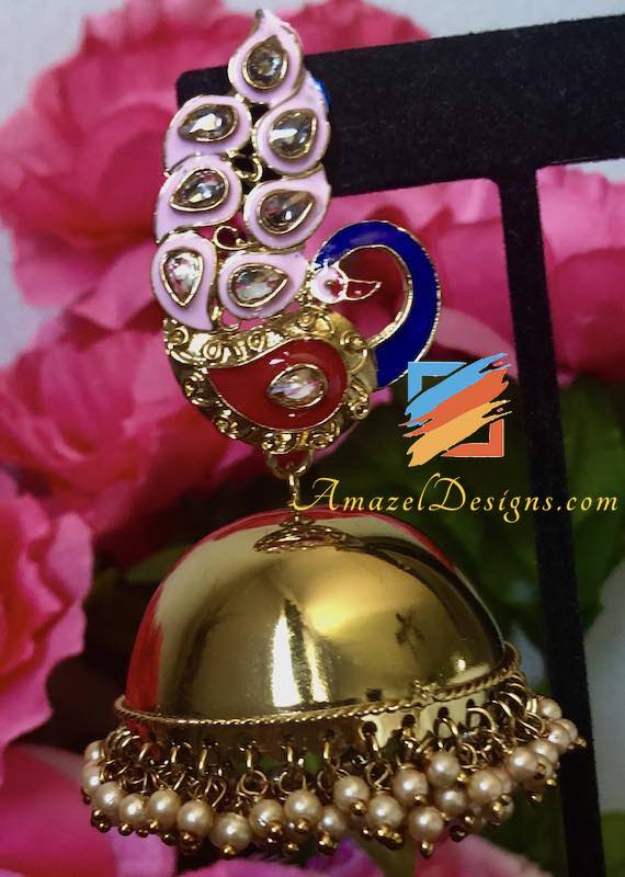 Extremely Lightweight High Quality Morni Jhumkas