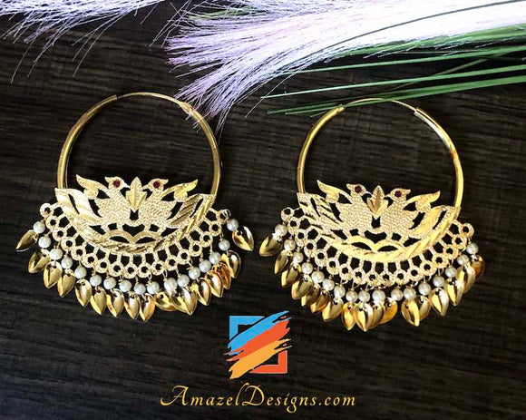 Extremely Lightweight Traditional Pipal Patti Vaali Earrings