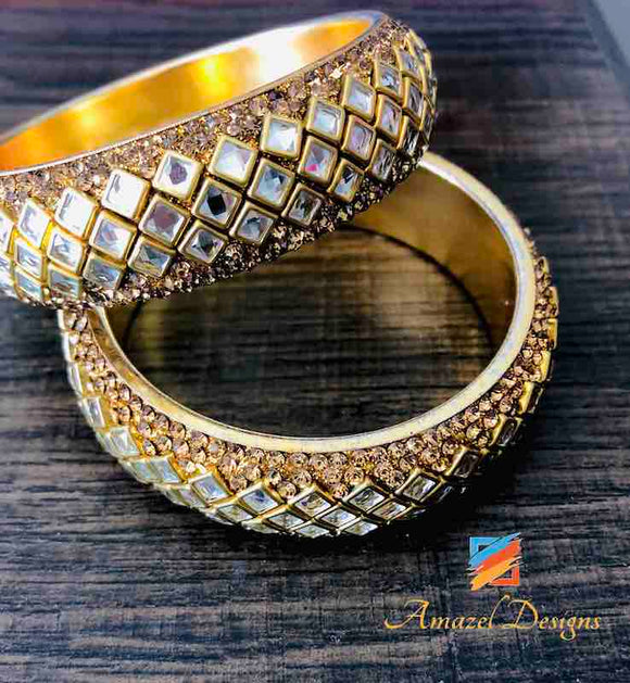 Golden Kada Bangle 2.5 in