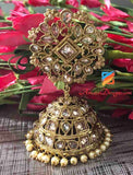 Golden Polki Jhumka