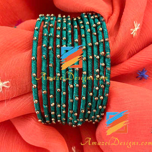 Silk Thread Bangles - Multiple Colours