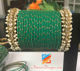 Polki Pearls Bangle 2.8 - Comes in a pair