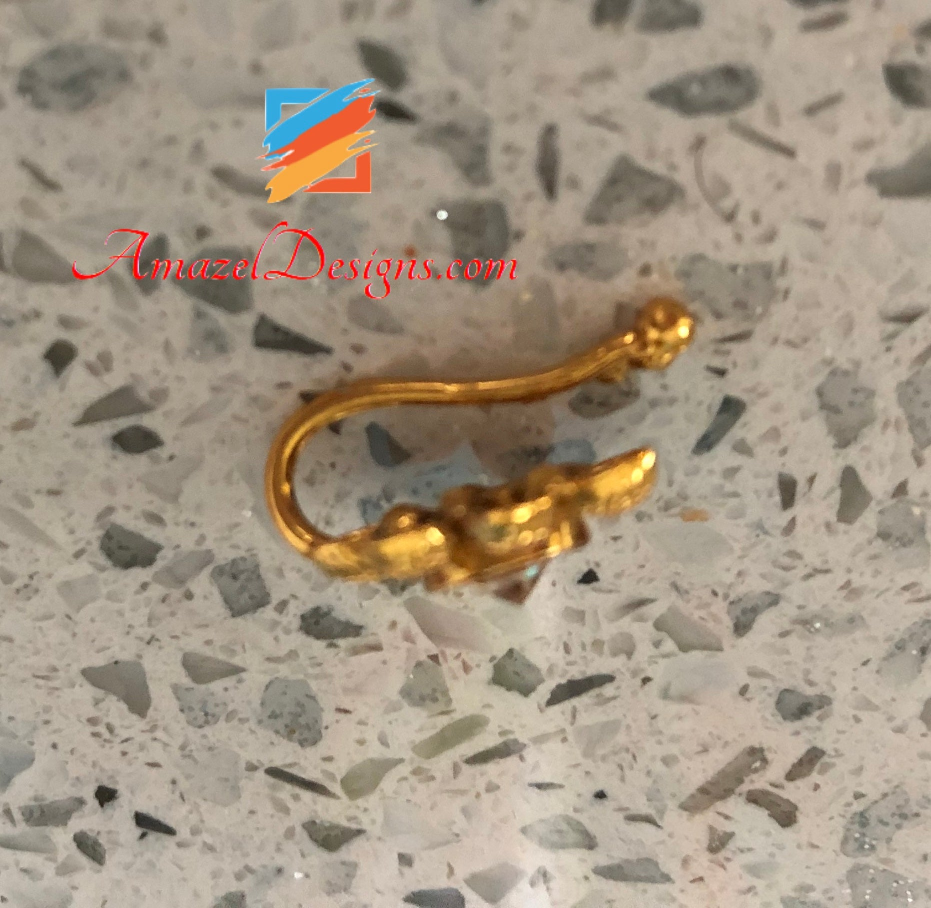 Indian Nose Ring Gold