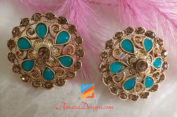 Indian Studs Earrings Gold