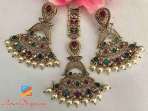 Indian Tikka Jewelry Multicolor