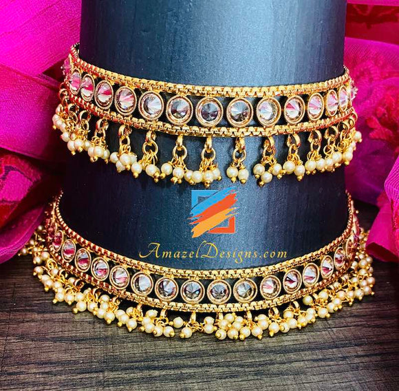 High Quality Polki Jhanjar Designs