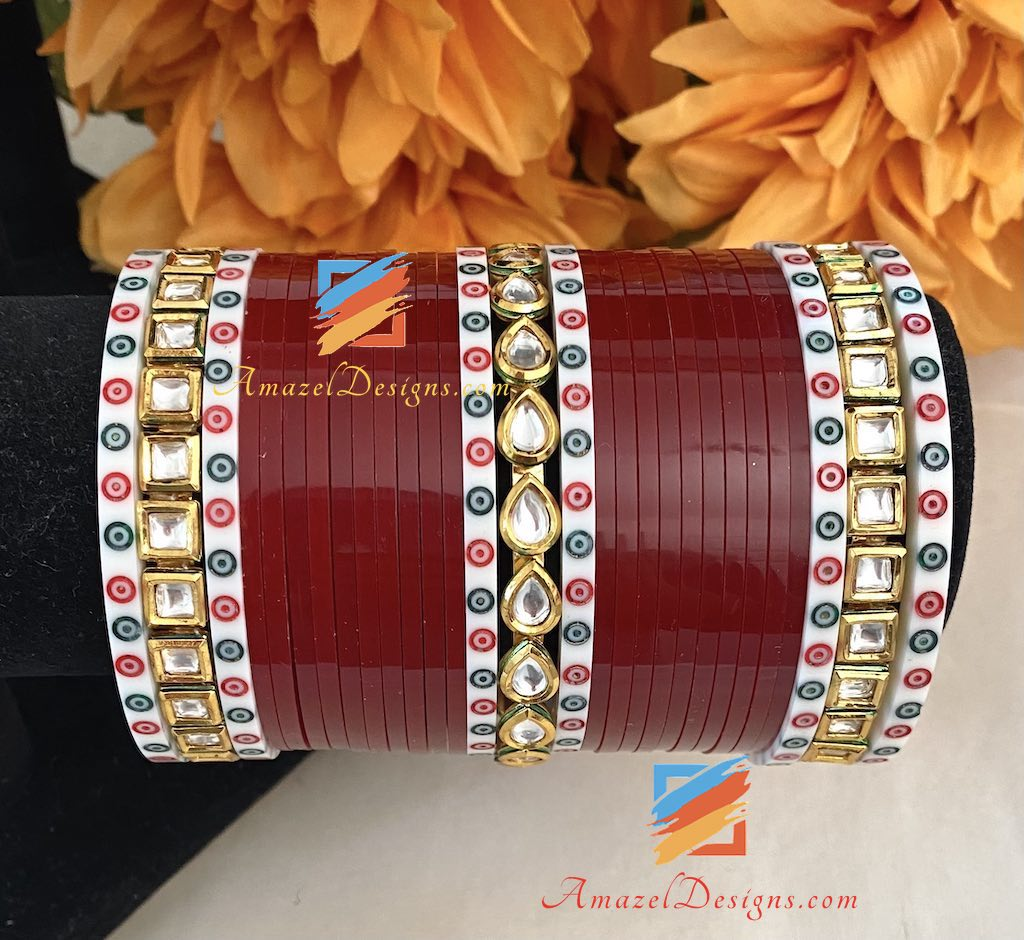 Kundan Choora Traditional Bindi Bangles