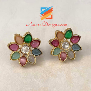 High Quality Kundan Studs Earrings
