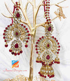 Kundan Maang Tikka with Earrings Jhumki