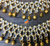 Kundan Payal Anklet with Golden Ghungroo Bells