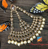 Passa Jewellery Polki Champagne Colour