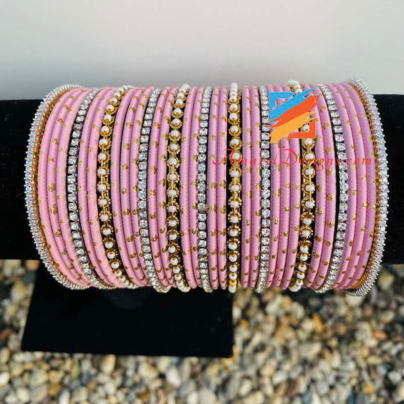 Pink Mix Bangle Set